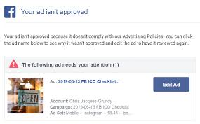 Facebook Ads Is not approved