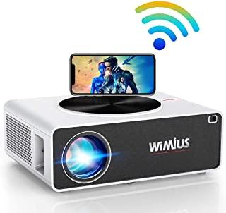 WiMiUS K3 Native 1080P WiFi Projector 7200Lux 300 Inches Display Wireless Screen Mirroring Smartphone/Ipad, 4K Support wit...