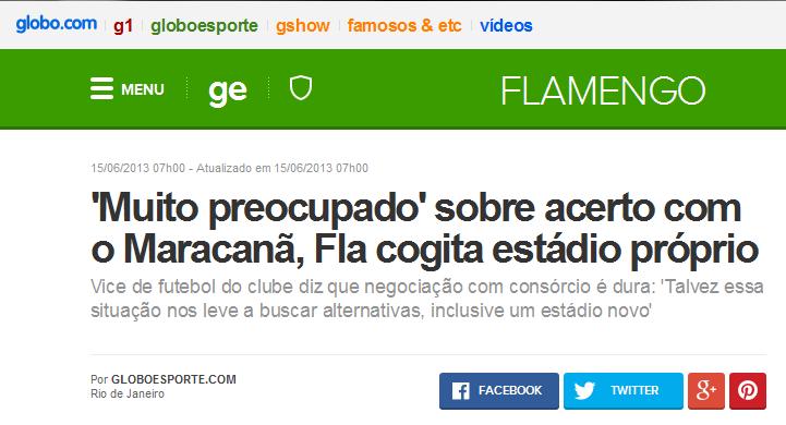 Mentiras repetidas por anos mostram que o Flamengo não tem estádio e nem nunca terá