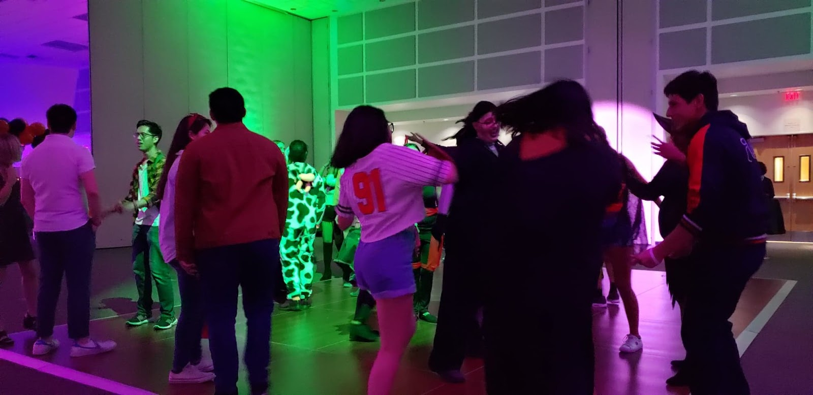 Students dancing at the Spooktacular Party in the BSC