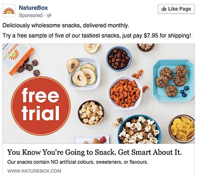 NatureBox - Facebook ad example 11