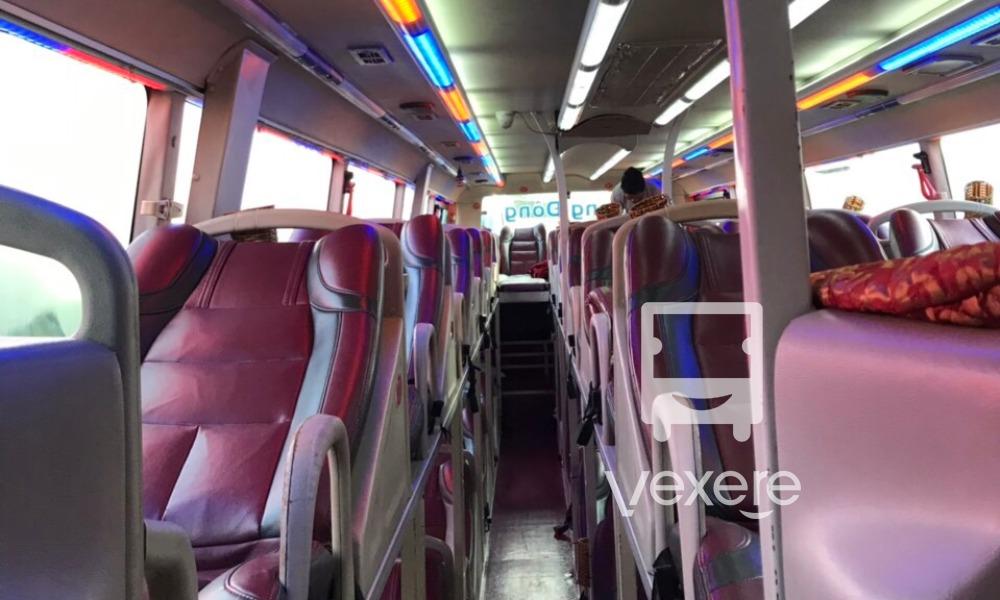 Nội thất xe Rạng Đông Buslines đi Quảng Ngãi từ Sài Gòn