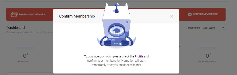 Ingramer settings for Instagram promotion 4