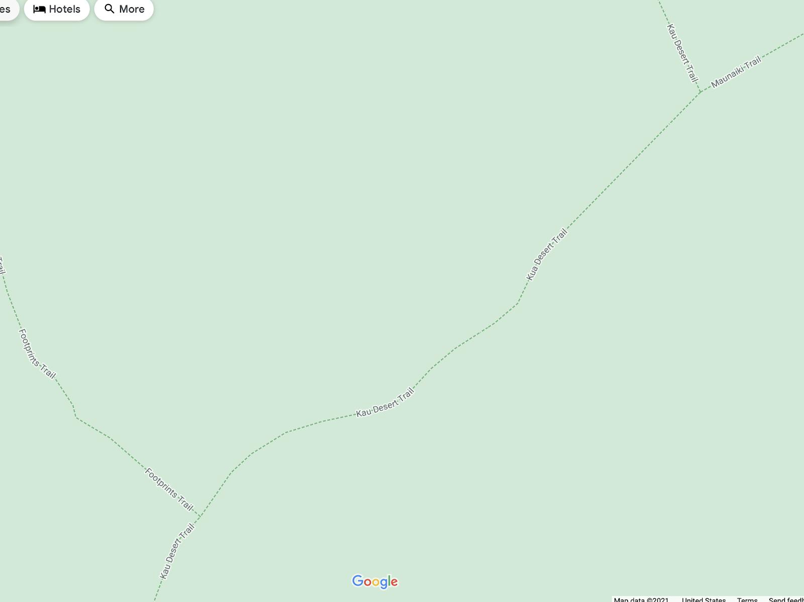 Just beyond Maunaiki's summit, choose between heading south on the Ka'ū Desert Trail and heading north to the Maunaiki Trail.
