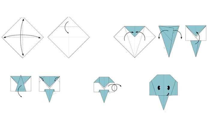 Origami de elefante
