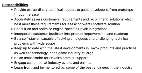 video game developer responsibilities