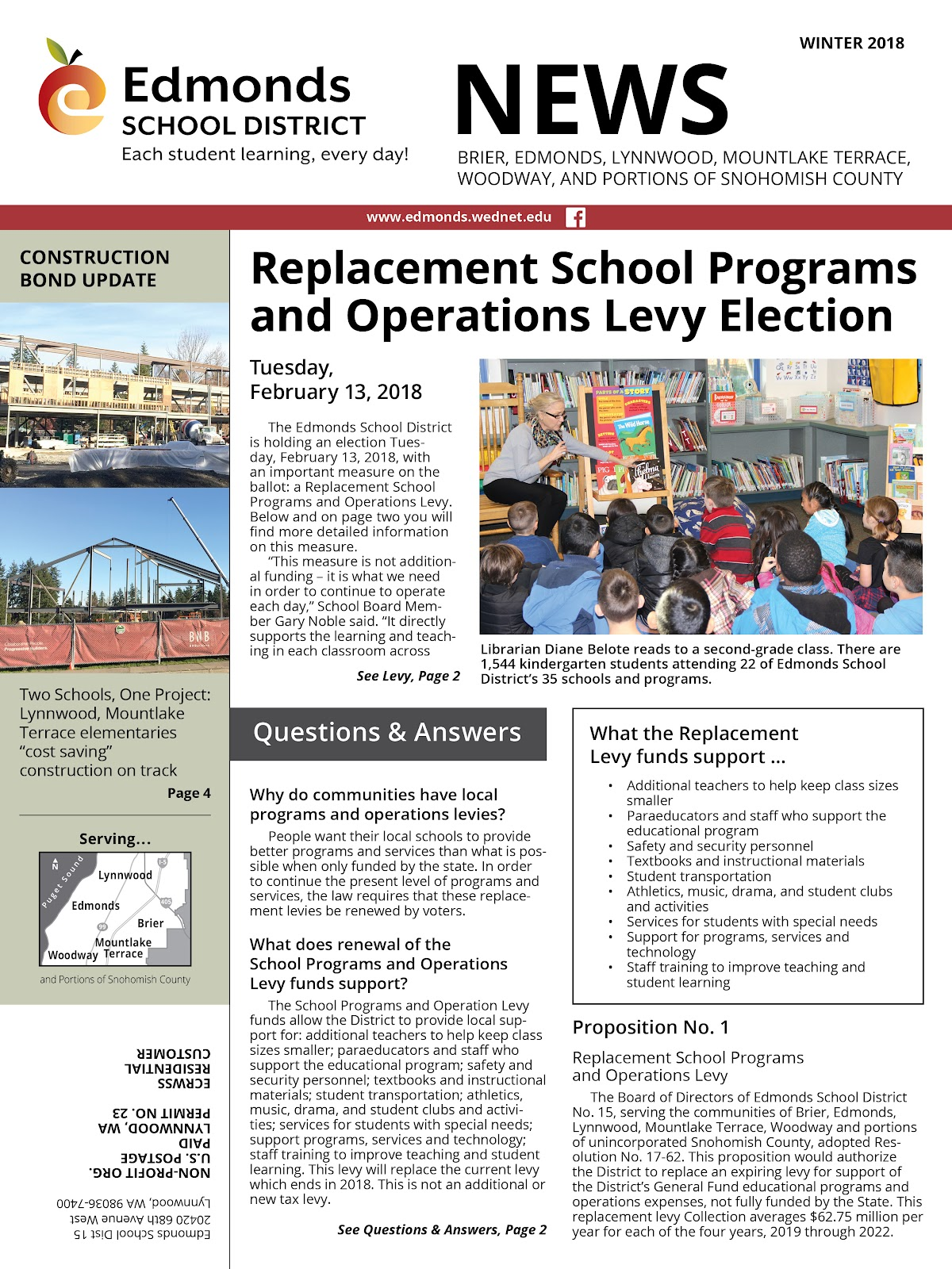 Winter 2018 District Newsletter cover