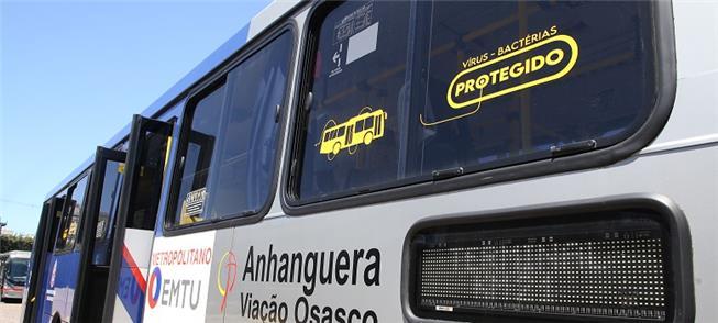 Doze ônibus com a tecnologia antiviral já estão circulando pela Grande São Paulo. (Divulgação/Governo do Estado de São Paulo)