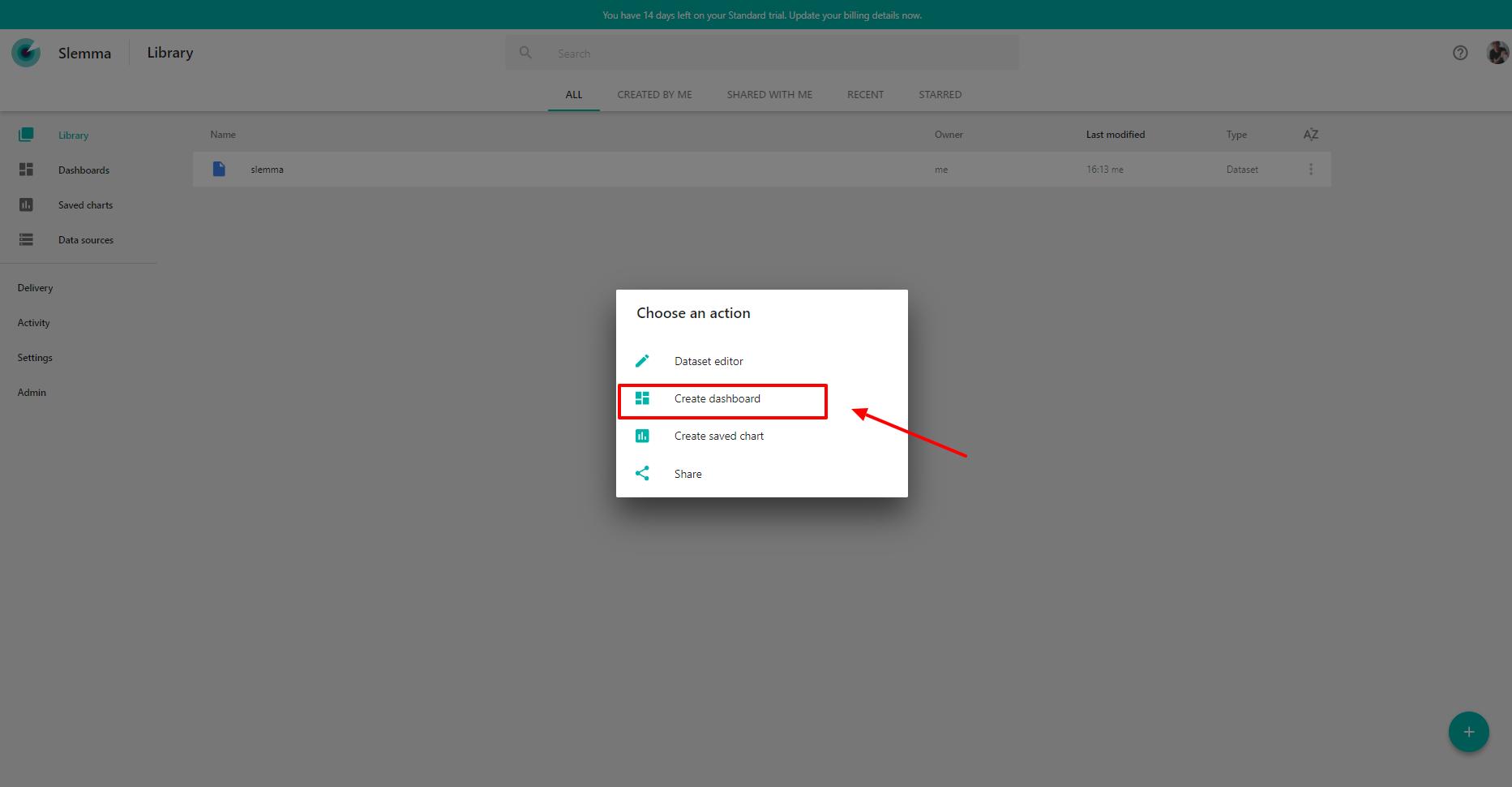 Create Dashboard   Slemma e Desk Manager