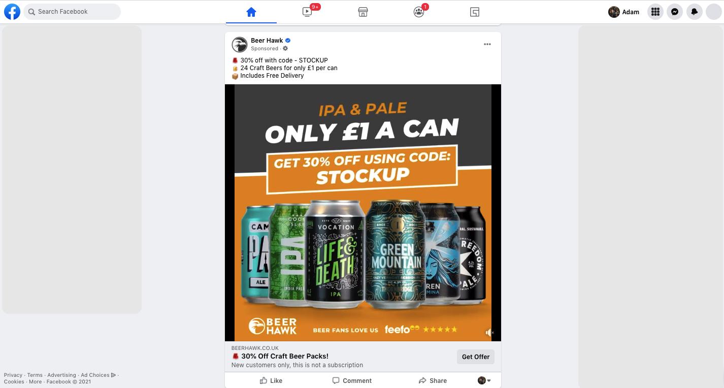 Facebook + Beer Hawk