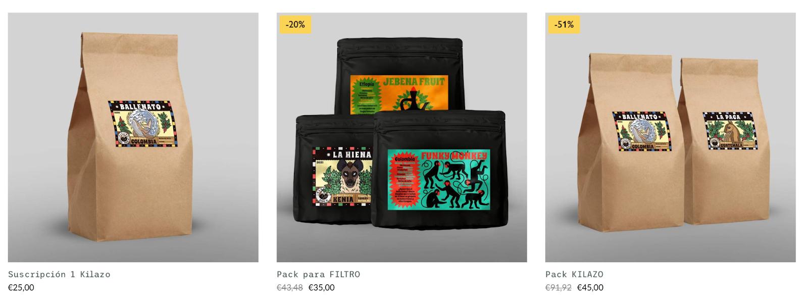 Ejemplos de señuelos en tiendas online