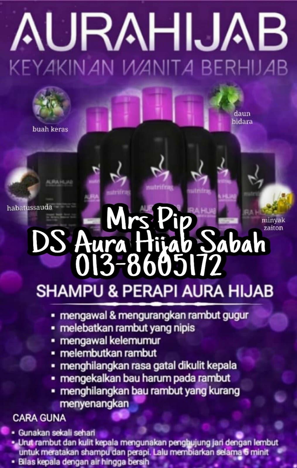 syampu aura hijab rawat rambut gugur