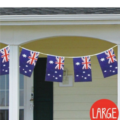 Discount Party Supplies Australian Flag Bunting - 5m Length Large