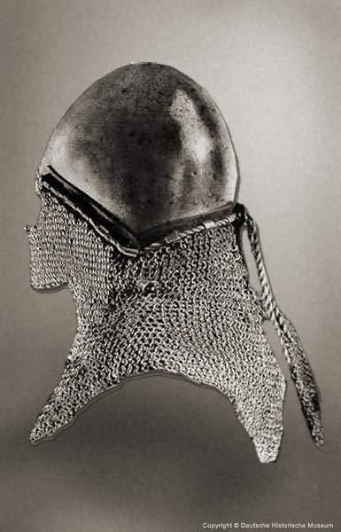 Bascinet with mail aventail of 1360 year