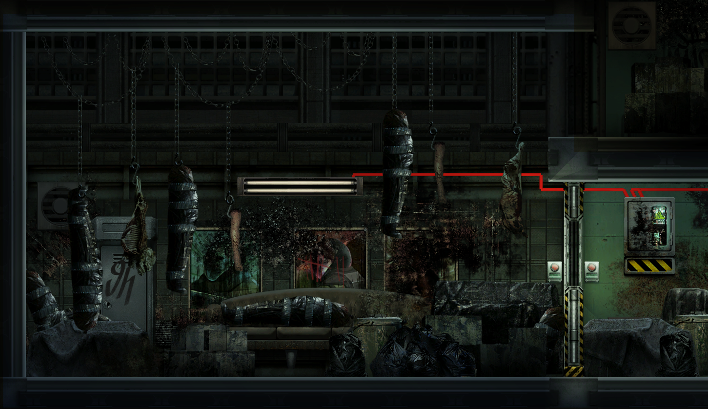 Barotrauma bodies inside abandoned outpost