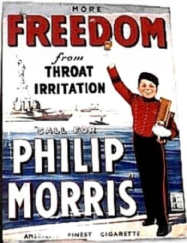 Propaganda infantil da Philip Morris.