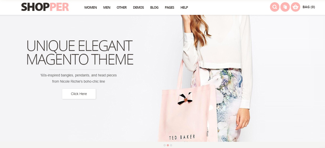 Magento clothing theme Shopper
