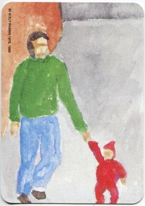 Карта из колоды метафорических карт Ох: папа и малыш