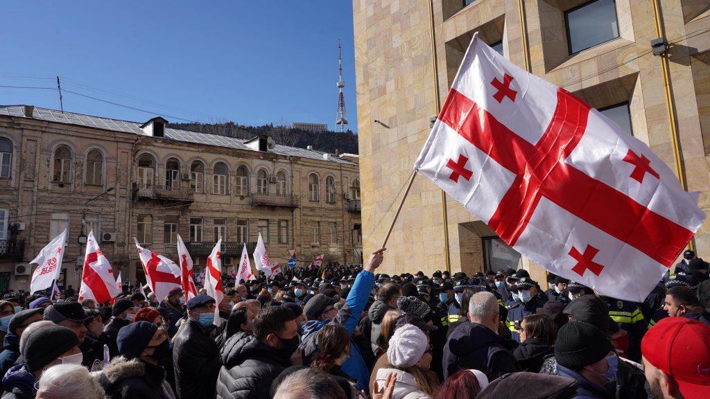 Грузинская оппозиция объявила программу действий. Фото: Давид Пипиа/JAMnews