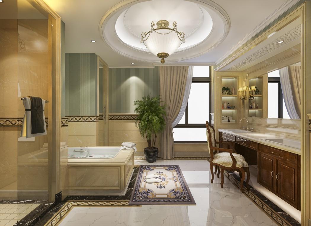 łazienka glamour beżowa