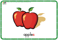 Image result for flashcards apples