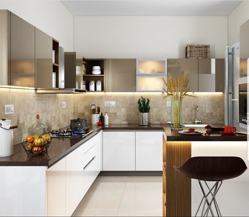 Latest Design For Kitchen: MAJESTIC MODULAR KITCHEN Dealers In Faridabad, Neharpar
