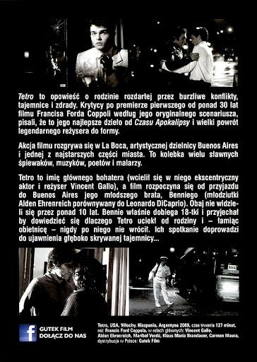 Tył ulotki filmu 'Tetro'