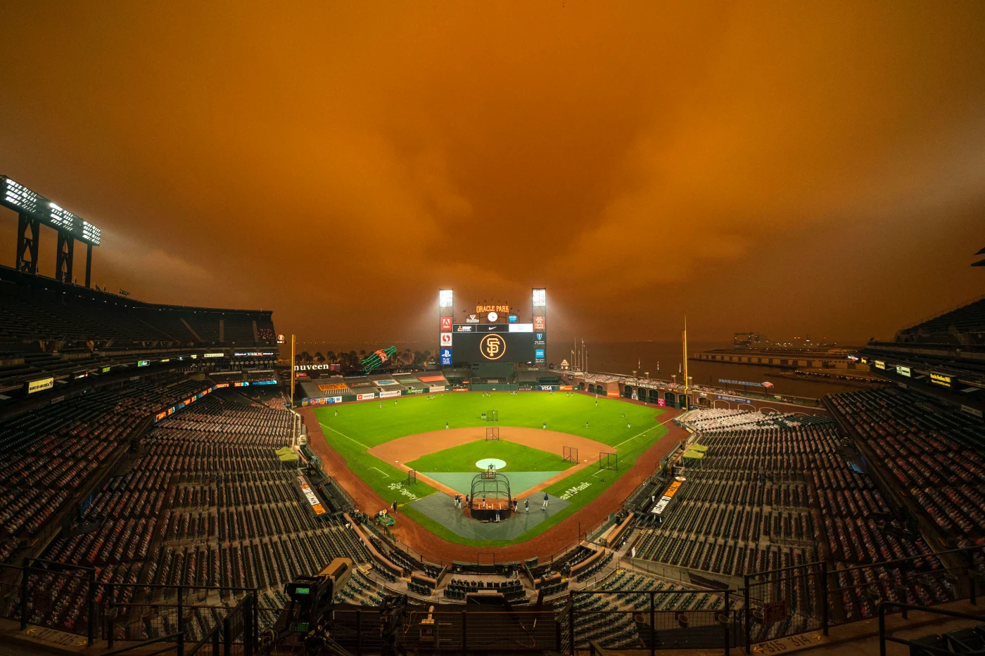 An eerie, almost apocalyptic view at the A's and Giants game during coronavirus.