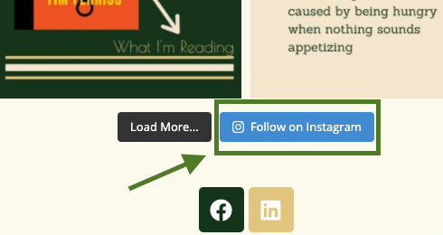 """""""Follow on Instagram"""" button for Smash Balloon Social Photo Feed"""