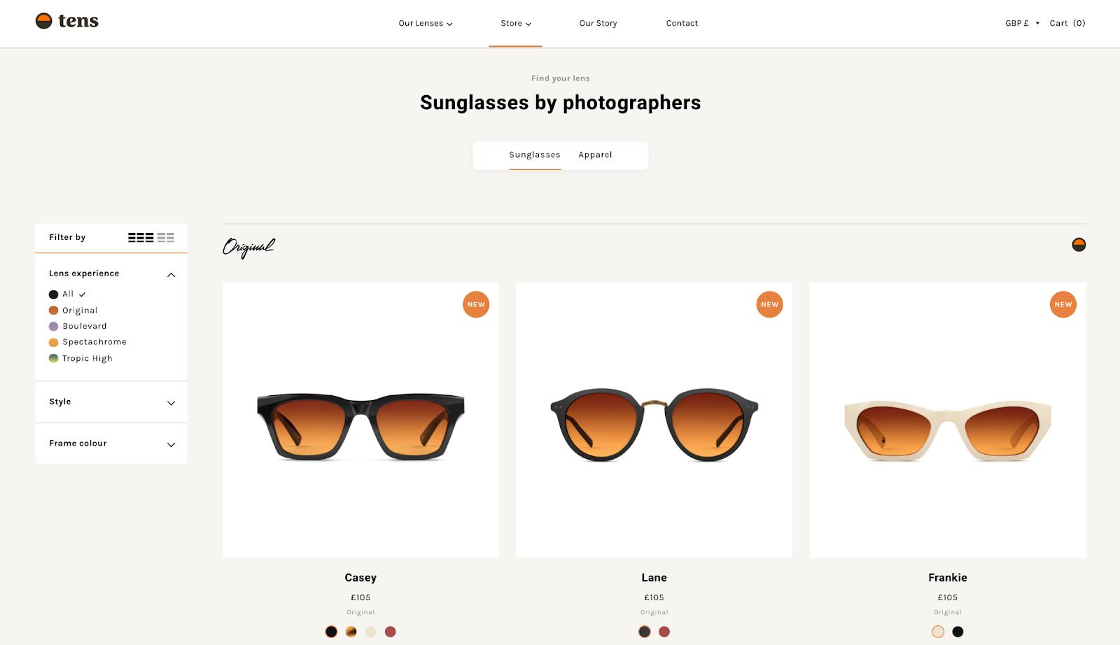 Tens Website Example
