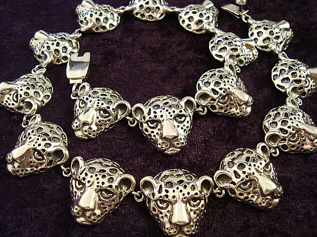 silver jaguar necklace