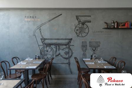 Sơn bê tông nhà hàng - màu sắc tinh tế, gây ấn tượng mạnh với khách hàng
