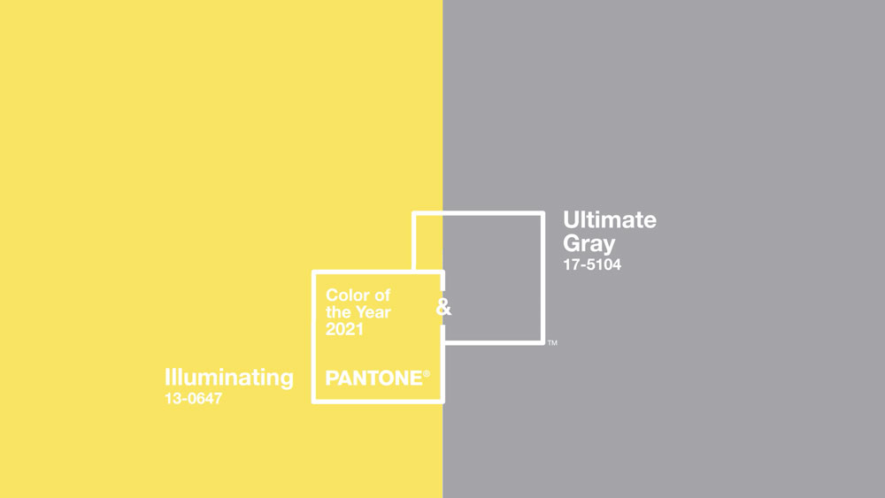 The colors of 2021 - Ulrimate Grey and Illuminating
