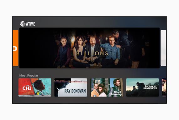 Showtime画面に表示中の「ビリオンズ」。