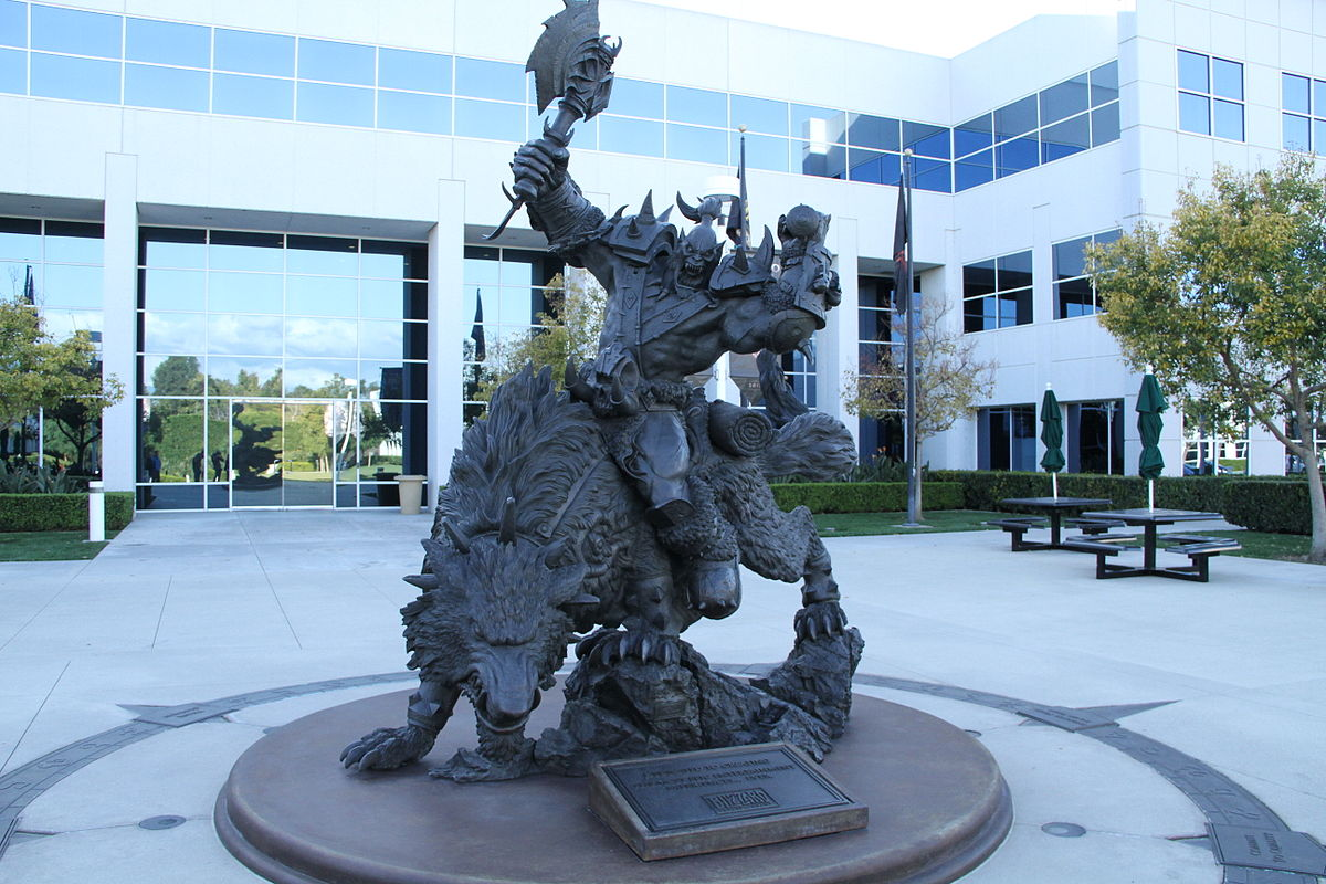 Orc statue located outside of the Blizzard office in Irvine, CA. Photo by Gordon Tarpley (under CC BY 2.0, no changes have been made.)