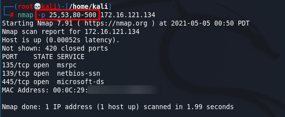 [NMAP Scan Any Port]: Scan port 80. Source: nudesystems.com