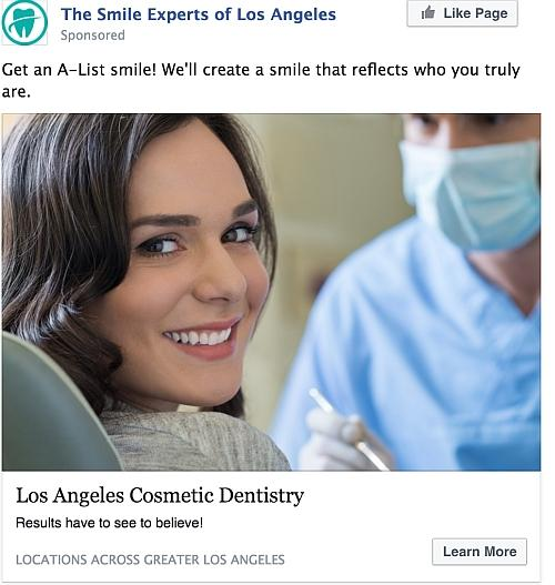 The Smile Experts of Los Angeles FB Ad