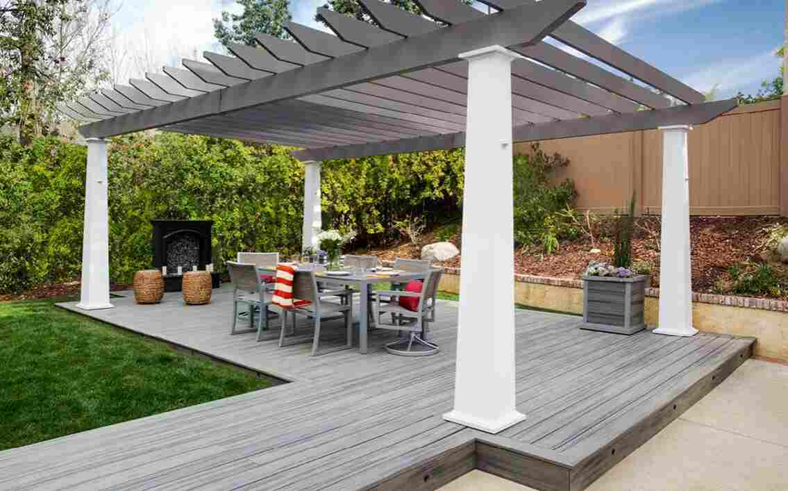 attach a pergola to decking in the Uk