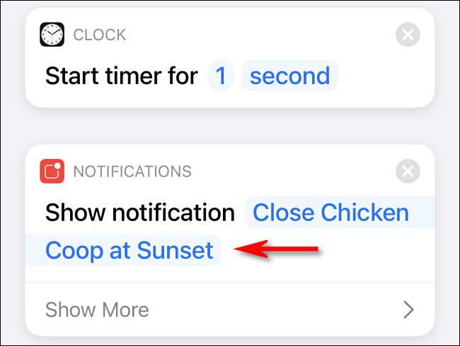 Modify the notification message.
