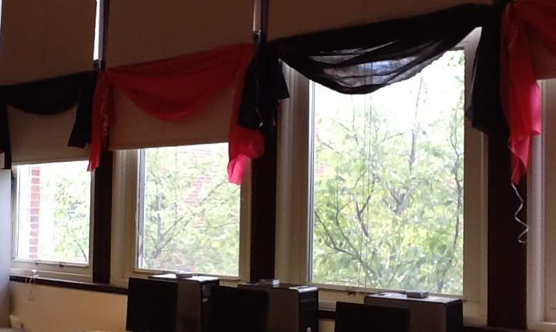 "Curtains Ideas classroom curtain ideas : Classroom DIY #1: Upping your Classroom ""Warm & Welcome"" Factor ..."
