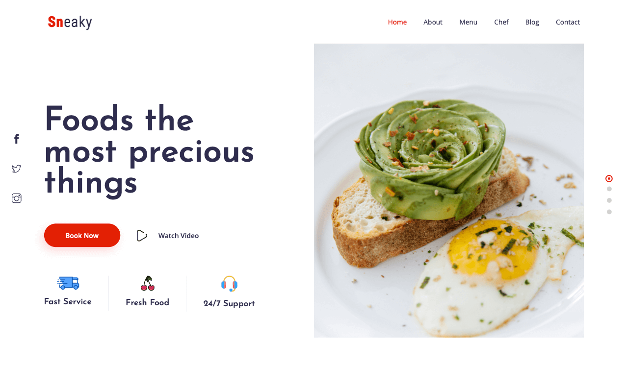 Sneaky Landing Page Template