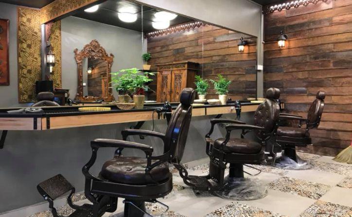 rekaan dalam kedai gunting rambut