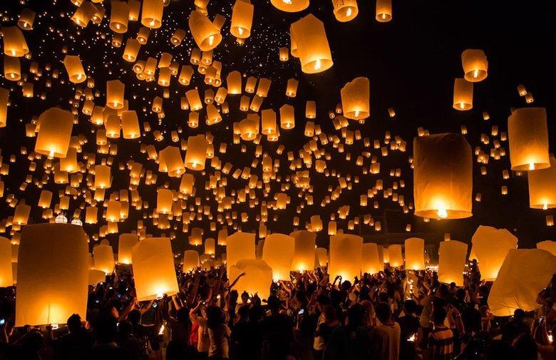 Image result for Lantern Festival (Yi Peng or Yee Peng) thailand images