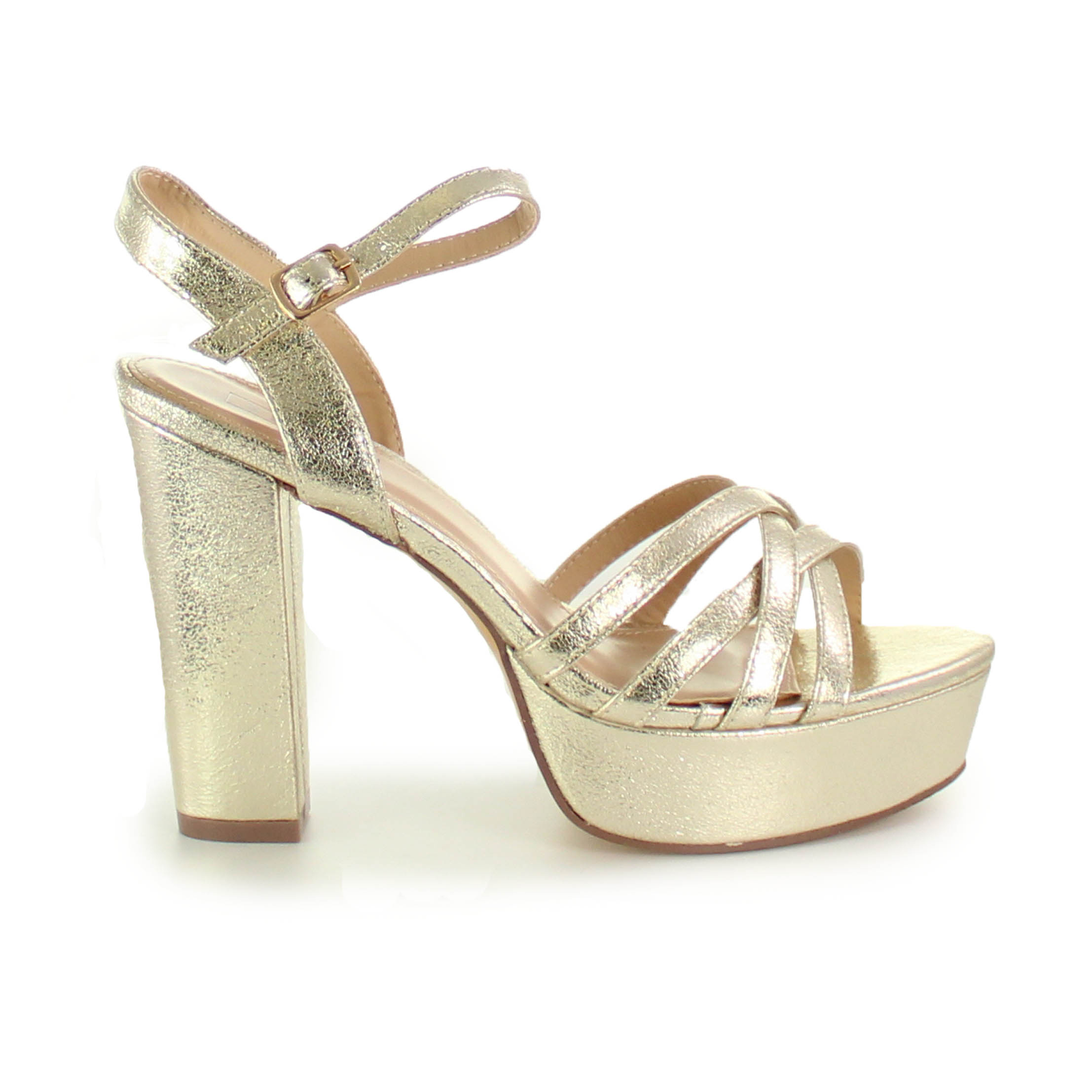 Zapatos boda dorado Vives Shoes