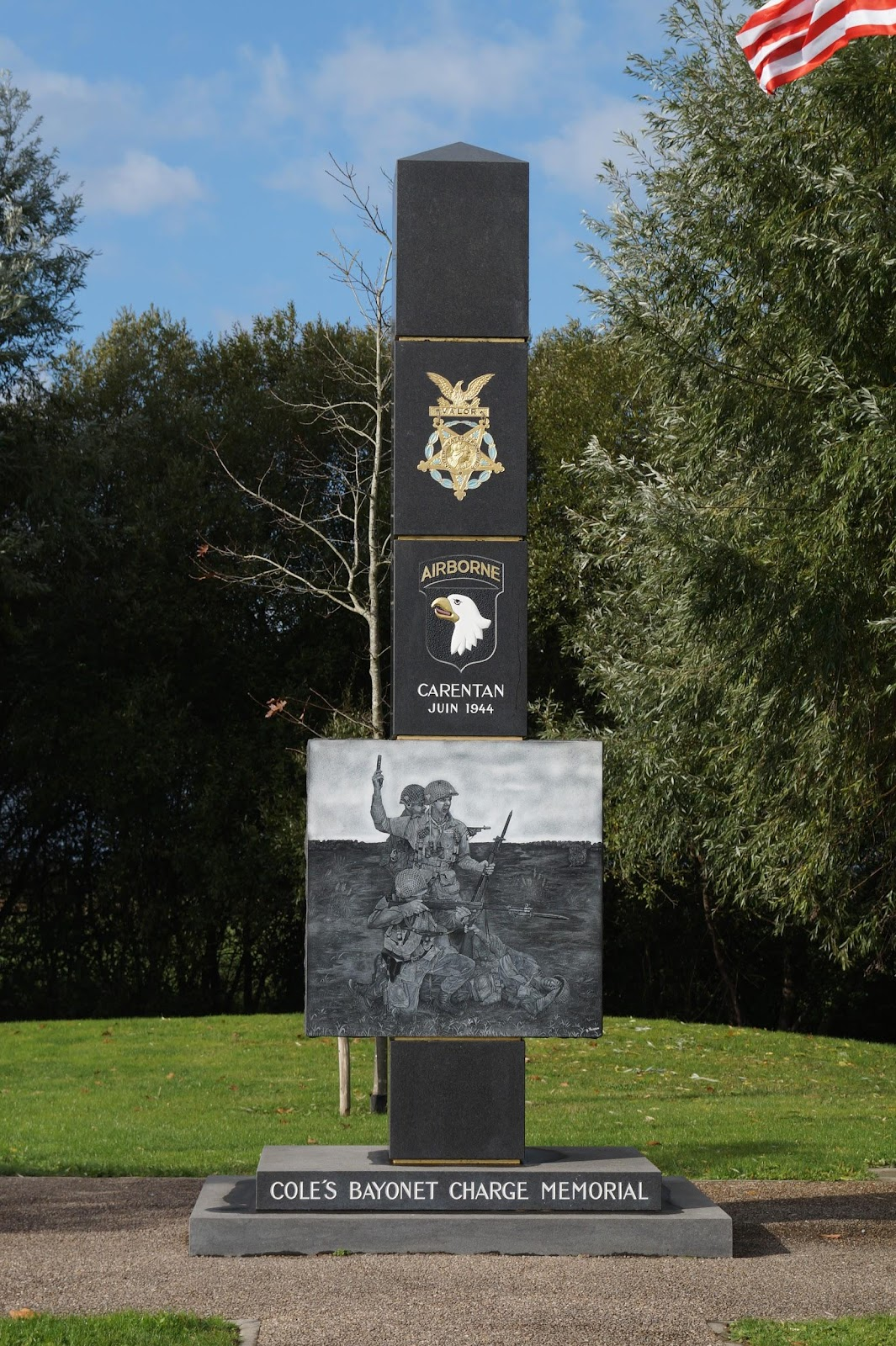 Lieutenant Colonel Cole's bayonet charge monument