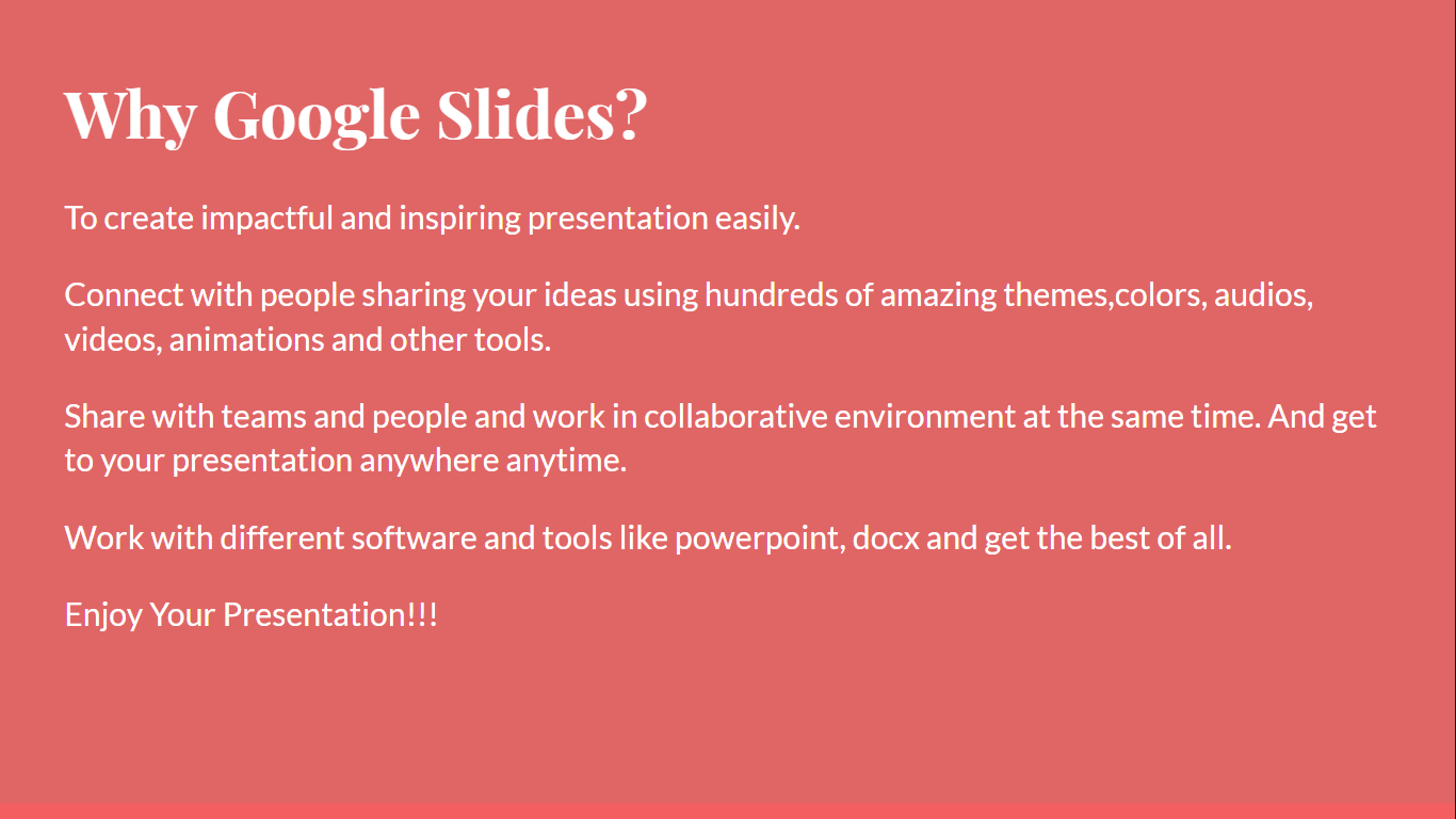 importance of google slides, Why google slides