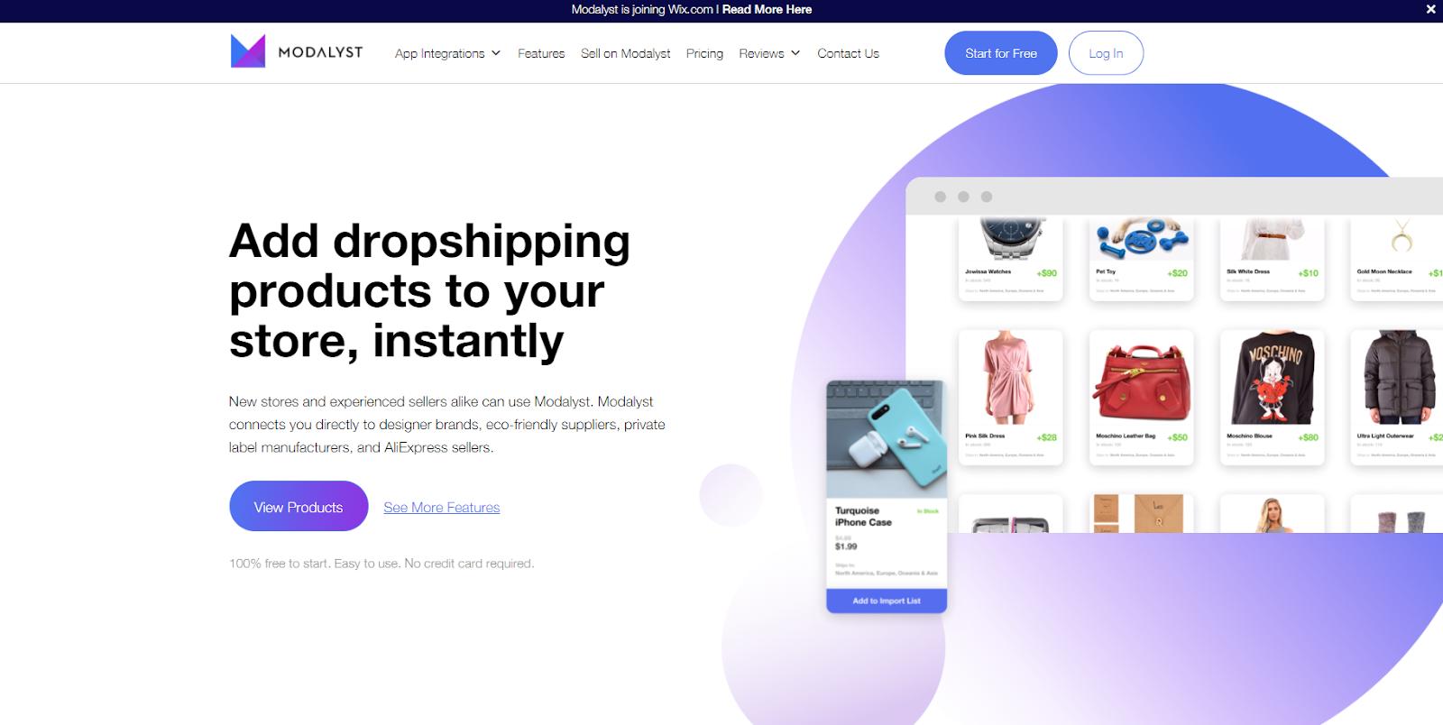 modalyst dropshipping app