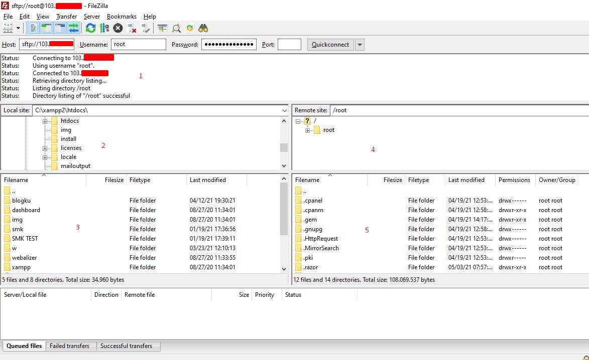 Cara menggunakan SFTP adalah dengan Filezilla