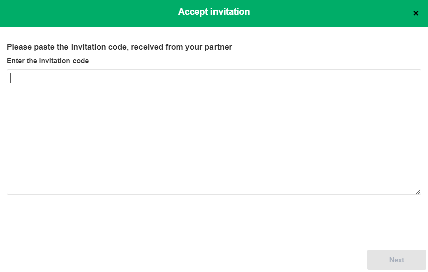 accept invitation code to sync