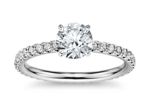 Eternity Diamond Engagement Ring from Blue Nile